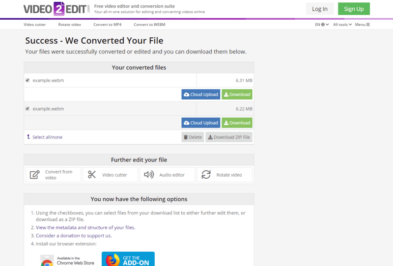 Download the converted WEBM